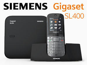 3d model siemens gigaset sl400 phone