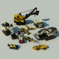 mining machines roadheader 3d model