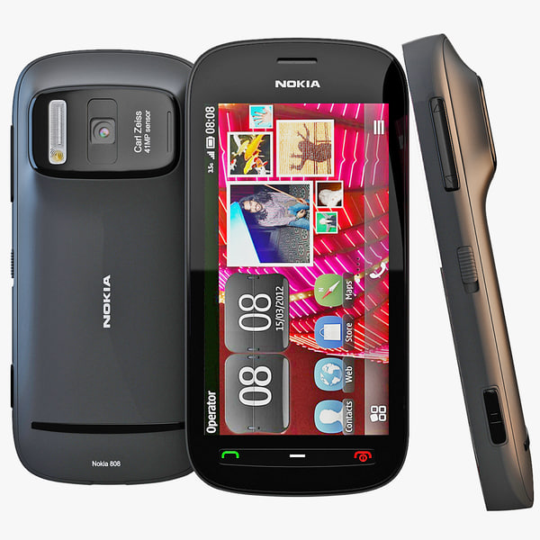 3d model of black nokia 808 pureview