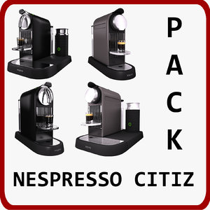 3d pack nespresso citiz model
