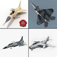 3d model jet fighters 3 j