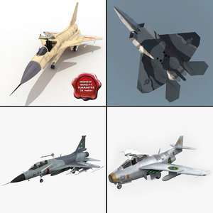 3d model jet fighters 3 j
