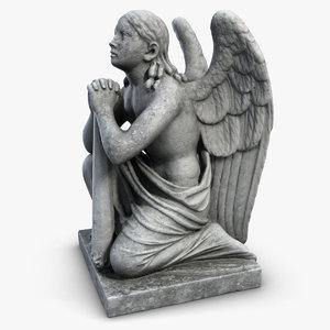 Statue Angel On The Knees