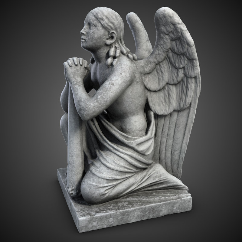 3ds sculpture angel knees