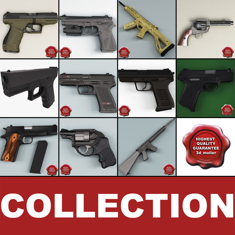 guns details beretta 3d model