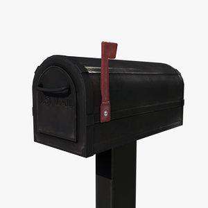 mailbox post box 3d 3ds