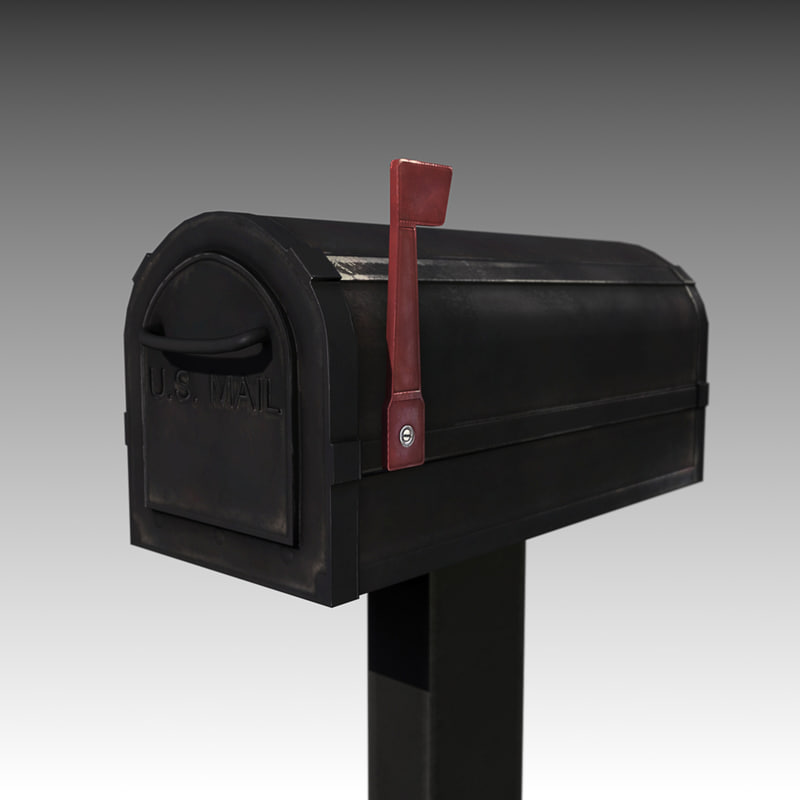 mailbox post box 3d 3ds