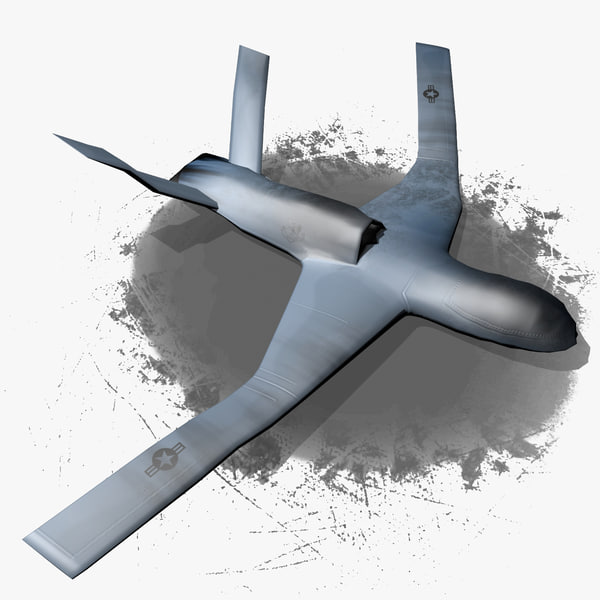 general atomics avenger predator 3d model