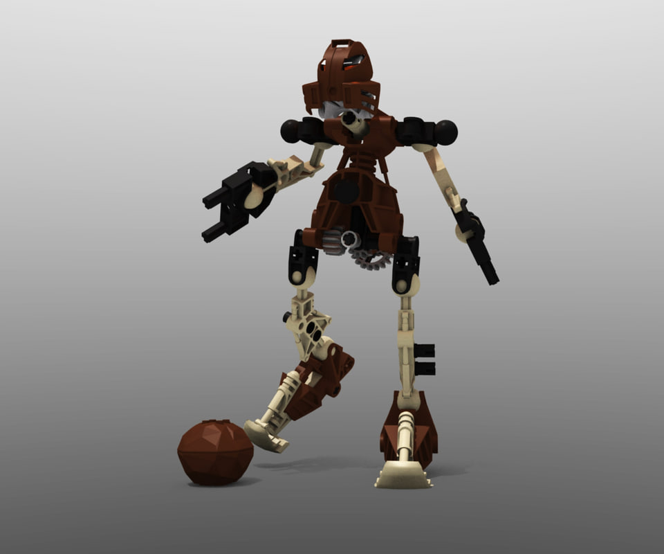 3d model of lego bionicle pohatu -