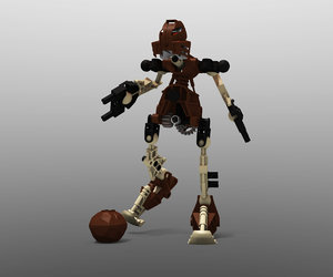 3d model of lego bionicle pohatu -