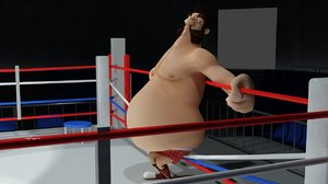 3d model of boxing man