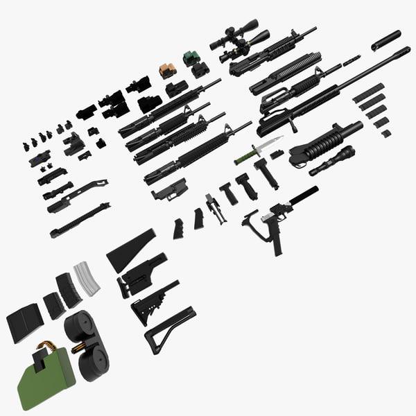 Colt M16A4 Complete Set