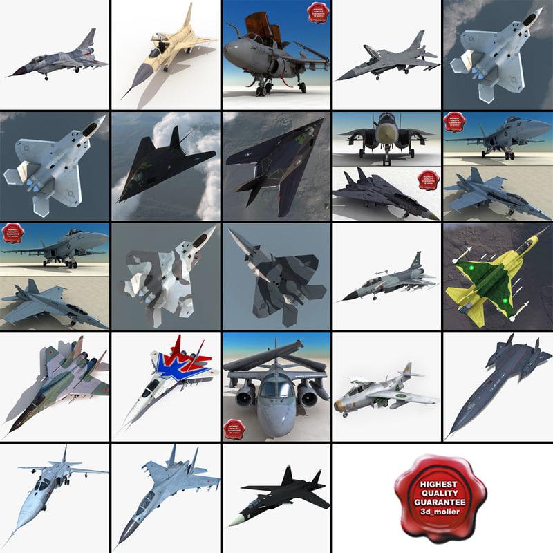 3d jet fighters 10 f 16 model