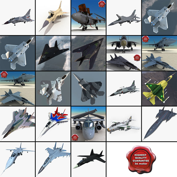 3d jet fighters 10 f 16 model