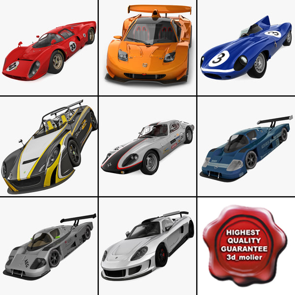 3d model racing cars 8