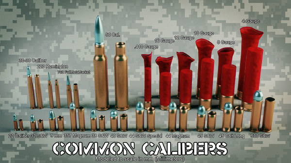 Common Calibers for VFX