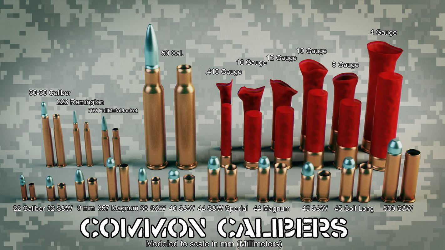 common calibers vfx 3d max