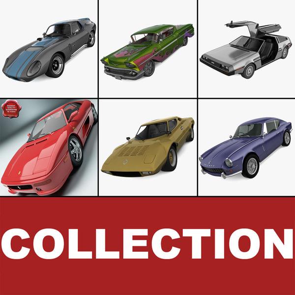 3d model retro cars 20