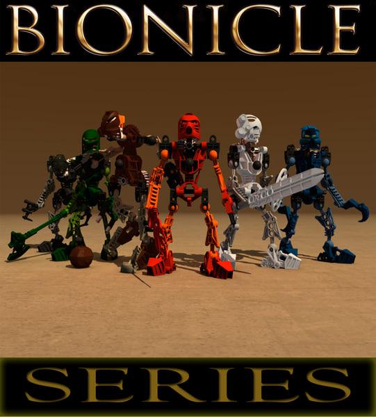 3d model lego bionicle