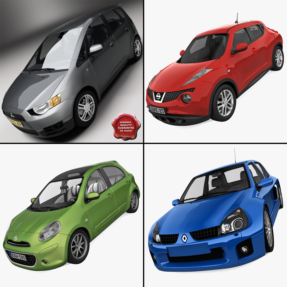 small cars 1 3d max