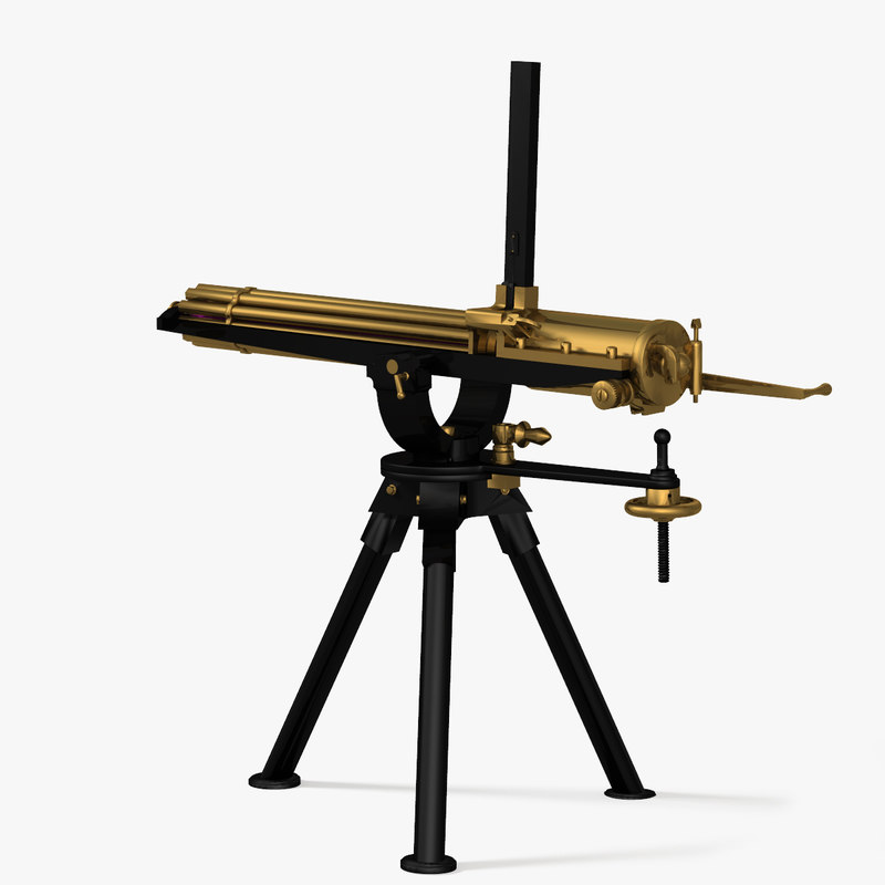 gatling gun 3d model