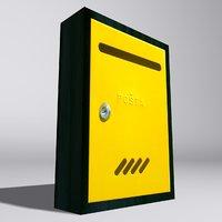 3d model europe mailbox
