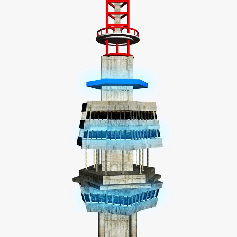 3d model of telecommunication tower