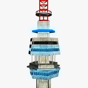 3d model of telecommunication tower