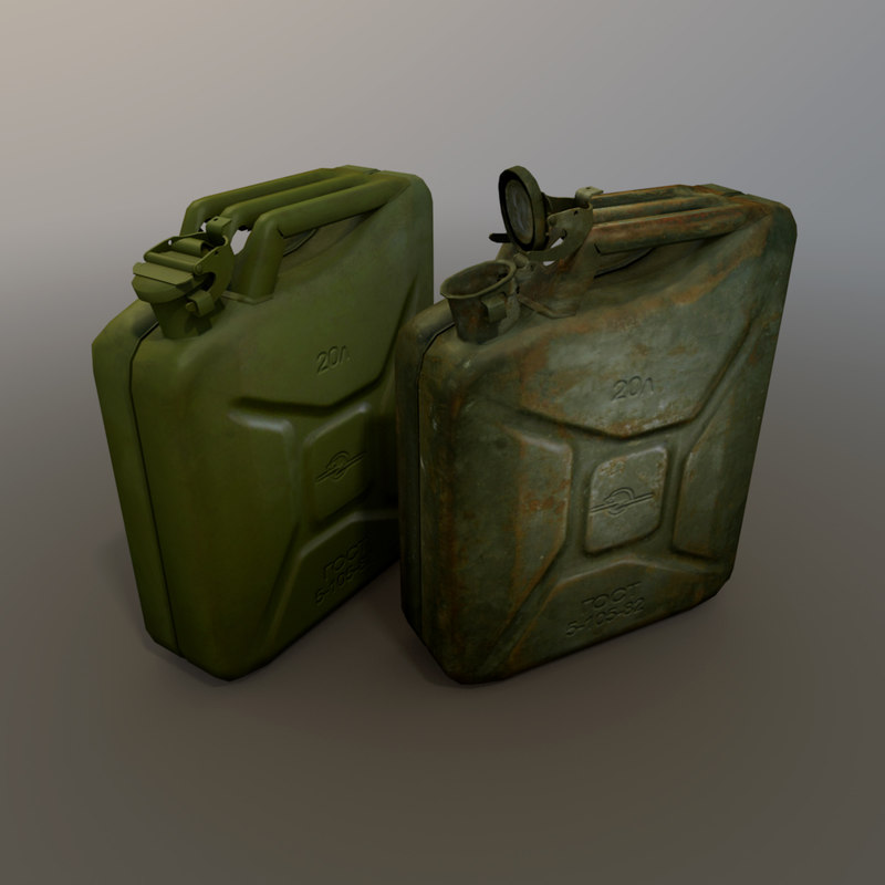 3d model canister fuel cans