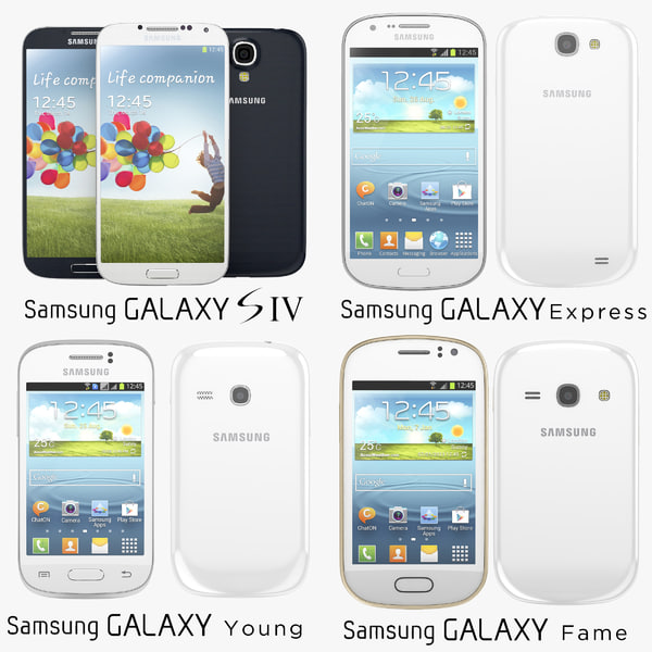 Samsung Galaxy Collection S4 SIV, Fame, Young and Express