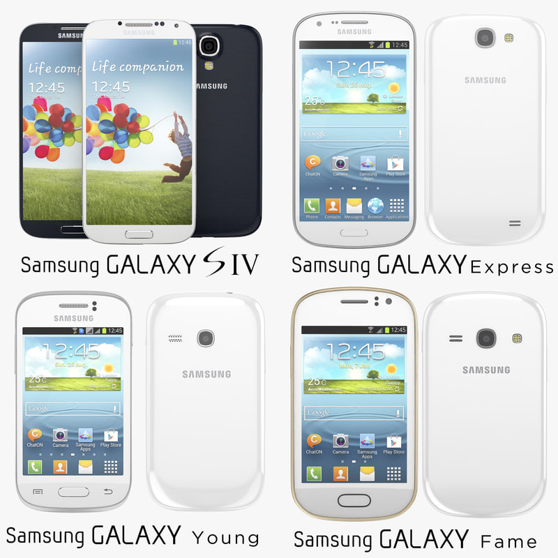 samsung galaxy s4 express 3d model