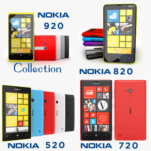 3d model of nokia lumia 920 820