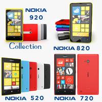 3d model of nokia lumia 920 820