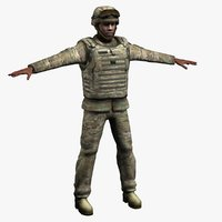army soldier multicam s 3d max