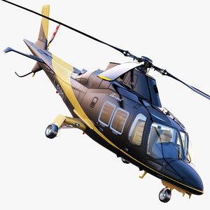 3d model agustawestland grandnew helicopter agusta