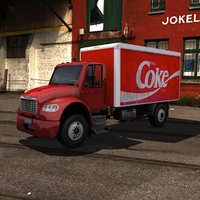 3d model fl-m2 delivery truck m2