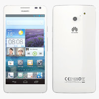 3d huawei acend d2 white