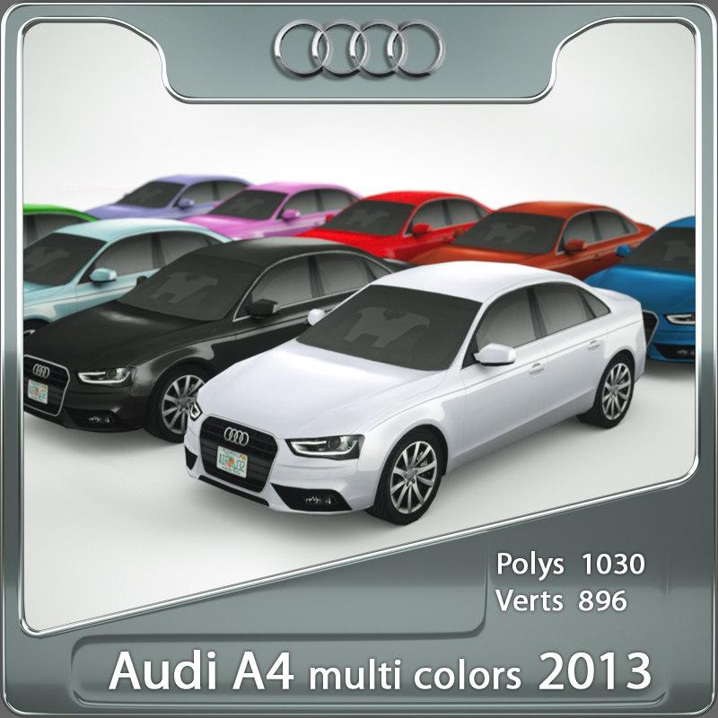 3d Max Multi Colored 2013 Audi A4
