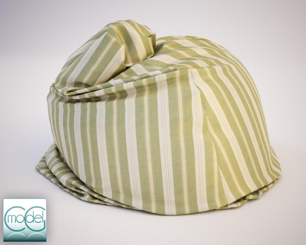fabrics bean bag chair 3ds