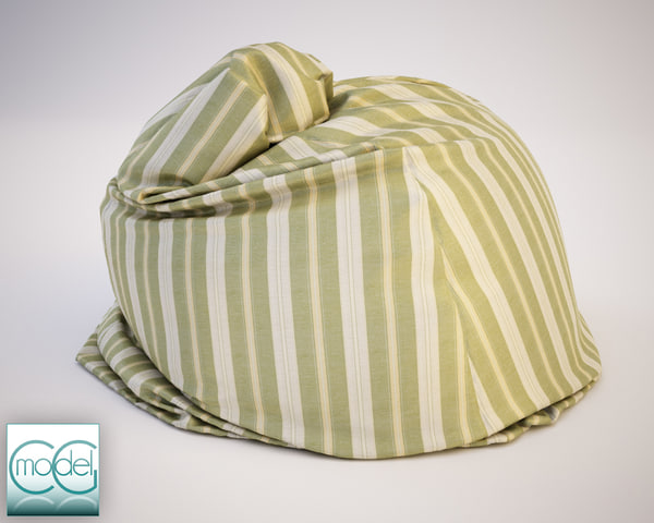 fabrics bean bag chair 3d c4d