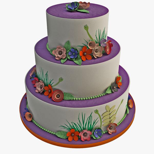 3d wedding cake