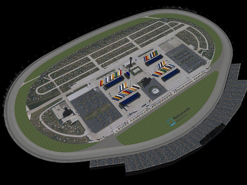3d model chicagoland track oval