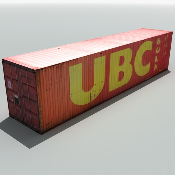 ubc shipping cargo container 3ds