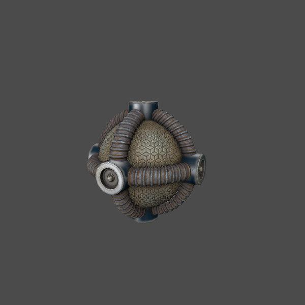 sci-fi bomb v1 3d model