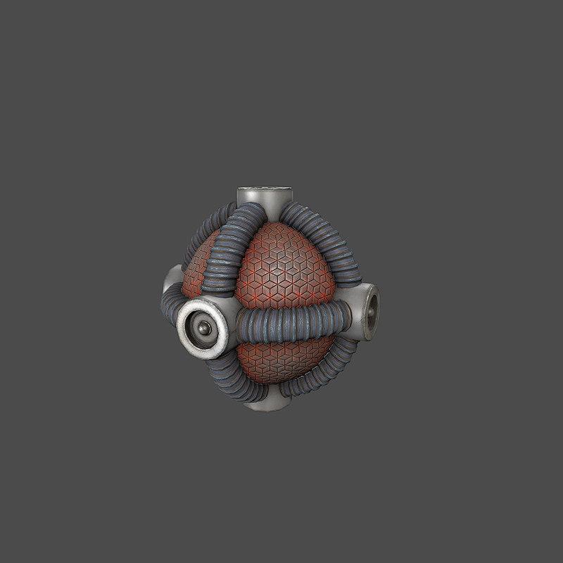 3ds max sci-fi bomb v2