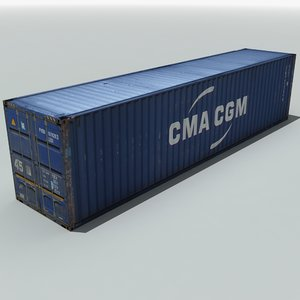 3d max cma shipping cargo container