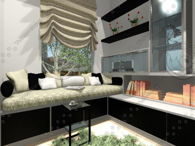 design study room 3d max