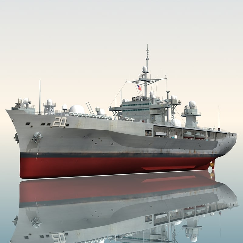3d model uss lcc mount