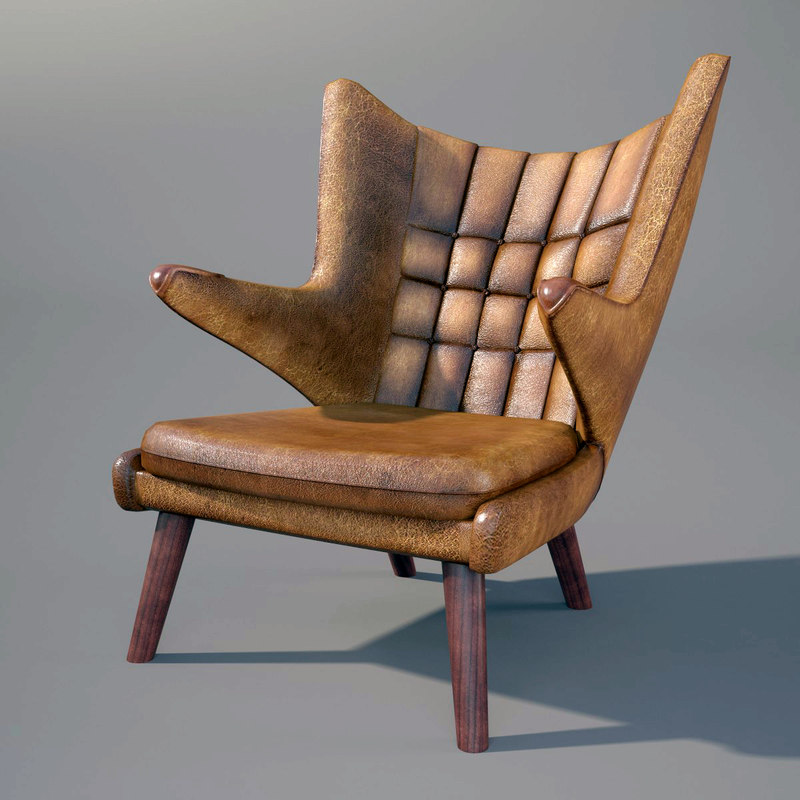 3d model hans wegner pp19 armchair