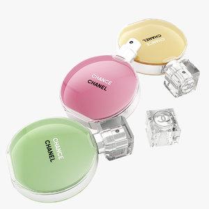 parfume chanel chance eau 3d 3ds